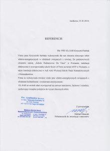 Referencje dla el-sar od Marian Adamski