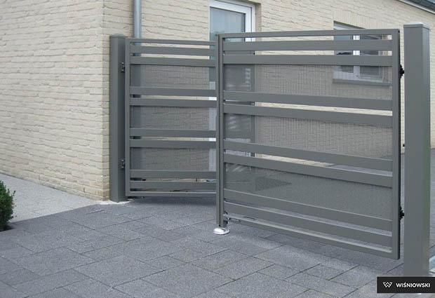 Brama ogrodzeniowa typu modern